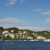 Lucerne harbor and buildings